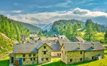 Отдых в альпийской деревушке Теш, Швейцария